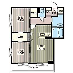 クオリスタ[3階]の間取り