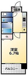 アービングNeo平野駅前 7階1Kの間取り