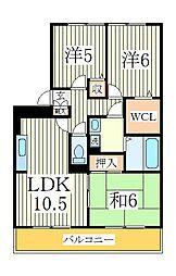 ラ・ミラージュ[2階]の間取り