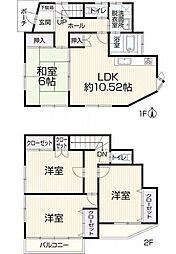 神奈川区三ツ沢中町中古戸建 4LDKの間取り