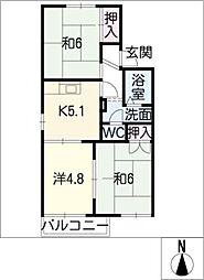タウニー藤田[2階]の間取り