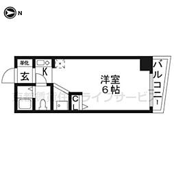 シボラ六条高倉[3-D号室]の間取り