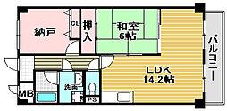 ホルティ上野芝[305号室]の間取り
