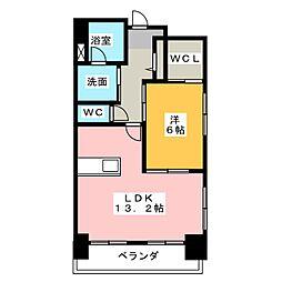 TRIBUTE元浜[7階]の間取り