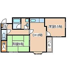 兵庫県神戸市西区持子2丁目の賃貸マンションの間取り