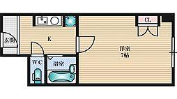 ステュディオ新御堂[9階]の間取り