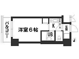 デ・リード金閣寺道[6階]の間取り