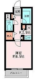 千葉県市川市福栄3丁目の賃貸マンションの間取り