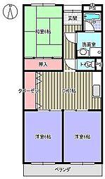 トランキル伊藤[105号室]の間取り