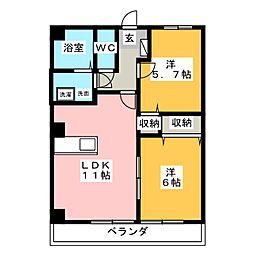 チャプターマンション[1階]の間取り