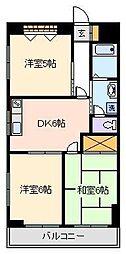 パークサイド新家[3階]の間取り