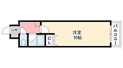 プライムハウス甲東園[402号室]の間取り
