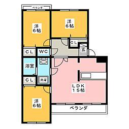 メープルリッチ 壱番館[1階]の間取り