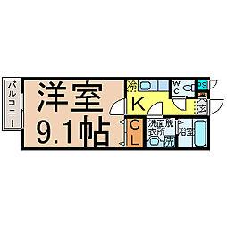 愛知県名古屋市中村区岩塚町1丁目の賃貸マンションの間取り