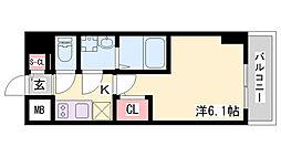 エスリードザ・ランドマーク神戸 10階1Kの間取り