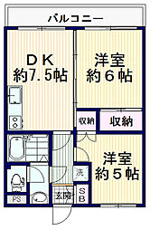 MENE21[3階]の間取り