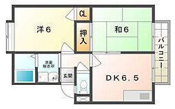 ガーデンハイツ小林1号・2号[2階]の間取り