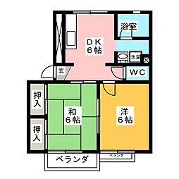 アーバンルネッサンスD棟[1階]の間取り