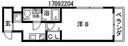 コラボ天王寺[4階]の間取り