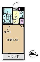デュークガーデン金沢八景II[206号室]の間取り