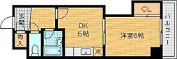 アーバンライフ大宮 4階1DKの間取り