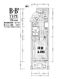 プレサンス梅田フロンティア[6階]の間取り