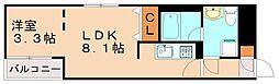 Branche高宮 4階1LDKの間取り