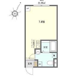 JR京浜東北・根岸線 鶯谷駅 徒歩7分の賃貸マンション 3階ワンルームの間取り