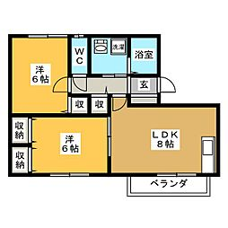 D-FREA HIRATA[1階]の間取り