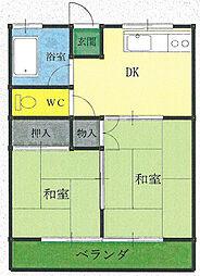 コーポ松本B[2階]の間取り
