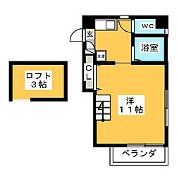 I.S COURT[6階]の間取り