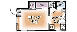 吉村アパート[1階]の間取り