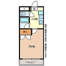 サニーハイツNAOE[1階]の間取り