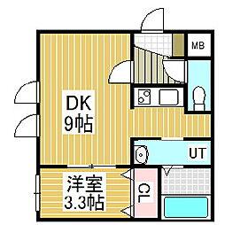 ANDAZ苫小牧駅前 1階1DKの間取り