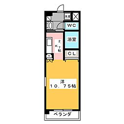 creador・大崎 2階ワンルームの間取り