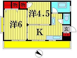 第2荒川マンション[4階]の間取り