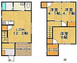 [一戸建] 福岡県福岡市東区美和台3丁目 の賃貸【/】の間取り