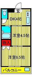 KODAガーデン[205号室]の間取り