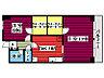 間取り,1LDK,面積54.5m2,賃料7.0万円,JR仙石線 榴ヶ岡駅 徒歩8分,仙台市営南北線 仙台駅 徒歩20分,宮城県仙台市宮城野区西宮城野