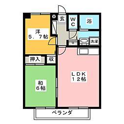 フォブール藤田II[2階]の間取り