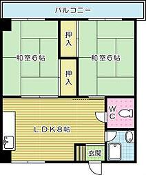 AC井堀[302号室]の間取り