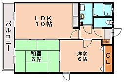 クレールマノワール[2階]の間取り