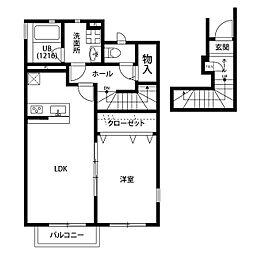 桜アパートメント[203号室]の間取り