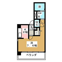愛知県名古屋市昭和区山花町の賃貸マンションの間取り