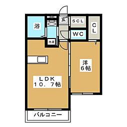 フレシールN20美香保公園[3階]の間取り