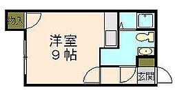 たかはしビル 3階ワンルームの間取り