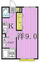 カーザ・レフィナーダII・III[2階]の間取り