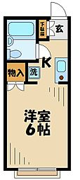 東京都多摩市落合3丁目の賃貸アパートの間取り