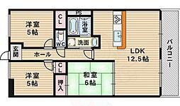 北大阪急行電鉄 緑地公園駅 徒歩24分の賃貸マンション 2階3LDKの間取り