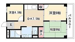 愛知県名古屋市天白区島田3丁目の賃貸マンションの間取り